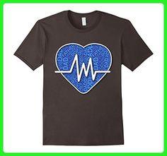 Mens Dad Cardio Heart Nurse T-Shirt 2XL Asphalt - Workout shirts (*Amazon Partner-Link)