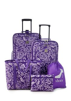 Borsa a spalla Michael Kors Sloan in pelle trapuntata matelassé rossa Cheap Luggage Sets, Cute Luggage, Best Carry On Luggage, Travel Luggage, Luggage Bags, Purple Luggage, Purple Pages, Women's Suitcases, Purple Home
