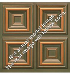266 Faux Tin Ceiling Tile - coffered - Patina Copper