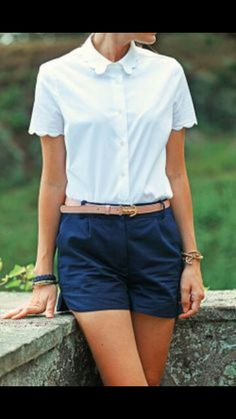 Anchor Starboard by Classy Girls Wear Pearls Adrette Outfits, Preppy Outfits, Summer Outfits, Summer Shorts, School Outfits, Preppy Mode, Preppy Style, Style Me, Mode Chic
