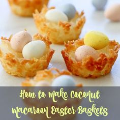 Easy Dessert Recipes - How to make Macaroon Easter baskets. #Easter #desserts #treat