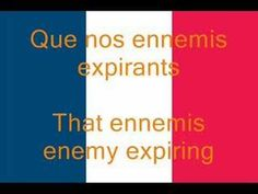 La Marseillaise is the French National Anthem. This video includes the song and subtitles in English and French. La Marseillaise est l& National Françai. Vocabulary Games, Grammar And Vocabulary, French National Anthem, National Songs, French Songs, French Class, Flipped Classroom, French Revolution, Funny Puns