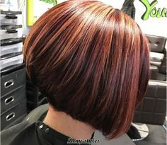 Stacked Bob for All Hair Always Stylish - Reny styles Stacked Haircuts, Stacked Bobs, Hair Cuts, Vogue, Stylish, Hair Styles, Colors, Haircuts, Hair Plait Styles