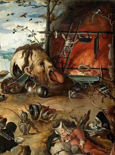 The Temptation of Saint Anthony (detail),Jan Mandyn(1502–1560)