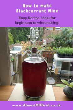 Our allotment blackcurrant bushes have produced a wonderful crop this year. Much as I love making jam, we rarely eat it. So instead I dug out a Blackcurrant Wine Recipe and it's bubbling away right now! Whilst we've made a… Homemade Wine Recipes, Homemade Alcohol, Alcohol Recipes, Jam Recipes, Fruit Recipes, Berry Wine Recipe, Fresh Strawberry Recipes, Wine Tasting Experience