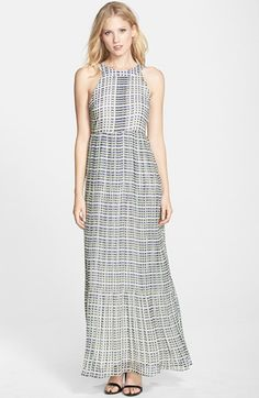Darling 'Zara' Print Georgette Maxi Dress available at #Nordstrom