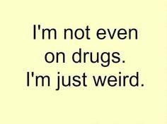 Very weird.