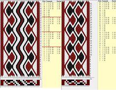 28 & 20 tarjetas, 3 colores, repite cada 8 movimientos // sed_641 & sed_641a diseñado en GTT༺❁
