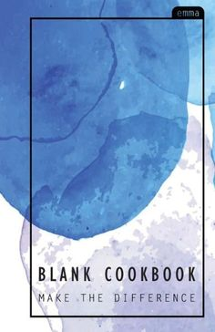 Blank Cookbook: Pastel Watercolor Blank Recipe Journal Cover - Bonus Cooking Measurement Inside