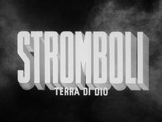 Stromboli (1950) movie title