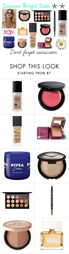 """""""Summer is my friend ;)"""" by meitinii on Polyvore featuring beauty, Bobbi Brown Cosmetics, NARS Cosmetics, Benefit, Nivea, Becca, MAC Cosmetics, Too Faced Cosmetics, Givenchy and GALA"""