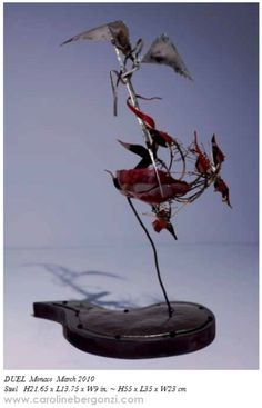 "Original artworks: #Steel sculpture by #Caroline Bergonzi.  Extract of the ""Caroline Bergonzi Creative Odyssey"" 400-page art book, available on #Amazon. To order, a piece of art or a commission, visit our site"