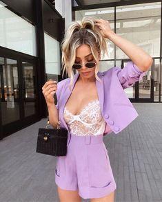 Casual Blazer, Casual Outfits, Cute Outfits, Lingerie, Her Style, Foto E Video, Ideias Fashion, Like4like, Style Inspiration