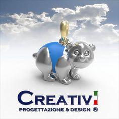 Creativi Design | Pendant Bear 3D Jewel Model Rhinoceros