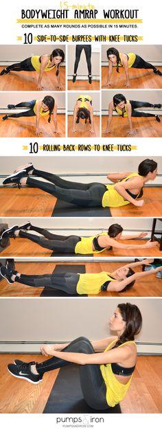 15-Minute Bodyweight AMRAP Workout