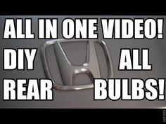 HONDA ACCORD: Replace All Rear Bulbs!! Have a bulb go out? Don't let someone charge you a bunch to fix it. Do it yourself!!  Feel free to subscribe to my youtube channel.  More helpful money saving tips coming soon. #howto #honda #acura #auto #tips #save