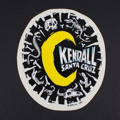 Santa Cruz Jeff Kendall Boneyard  Moon Skateboard sticker de la boutique fabuleusecaverne sur Etsy