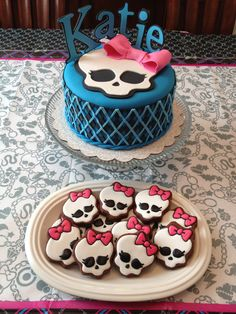 Monster High Cookies by DecoratedDesserts on Etsy, $32.00