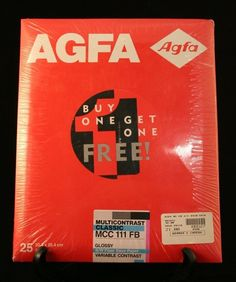 Agfa Multicontrast Classic Fiber MCC 111 FB 8 x 10 Photo Paper 50 Sheets Sealed *