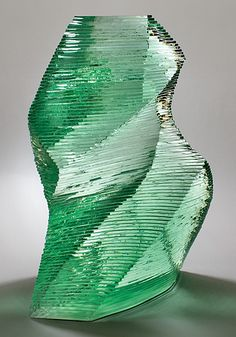 NIYOKO IKUTA - Ryo-5 Glass sculpture - W 14.6 x D 5.9 x H 19.3in.