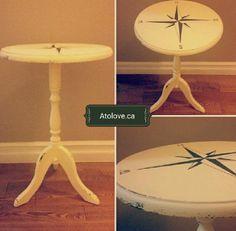 Nautical compass table diy