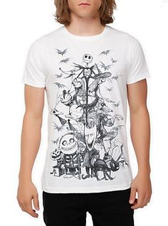 The Nightmare Before Christmas Sketch T-Shirt,