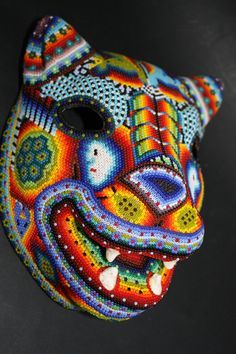Huichol art masks in 2019 искусство. Crescent Roll Breakfast Casserole, Bacon And Egg Casserole, Slimming World Overnight Oats, How To Make Sausage, Black And White Painting, Diy Canvas Art, Beaded Skull, Arte Popular, Mexican Folk Art