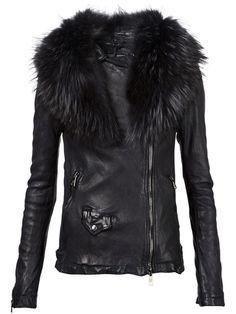 fur trimmed biker jacket