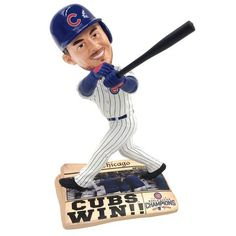 Forever Collectibles Aroldis Chapman Chicago Cubs 2016 World Series Newspaper Base Bobblehead