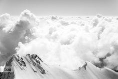 Descending from Piz Bernina by Christoph Oberschneider on Piz Bernina, Ski Touring, Above The Clouds, Timeline Photos, My Images, Mount Everest, Skiing, Facebook, Explore