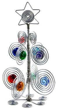 Beaded wire table top Christmas tree