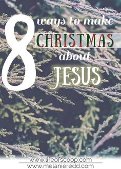 """""""Jesus is the reason for the season."""" We hear that phrase everywhere, don't we? Here are 8 ways we can truly make Christmas about Jesus. Christmas Jesus, Christian Christmas, All Things Christmas, Christmas Time, Christmas Ideas, Christmas Meaning, Holiday Ideas, Christmas Budget, Christmas Crafts"""