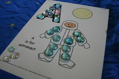 * Outer Space Planet Counting Plates and Preschool Worksheets