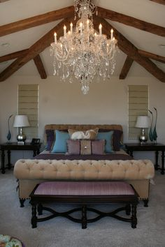 A small master bedroom does not need to be a problem. Here are some beautiful bedrooms full of terrific ideas for making the most of a small bedroom # Beach House Bedroom, Dream Bedroom, Home Bedroom, Bedroom Wall, Bedroom Decor, Surf Bedroom, Bedroom Ideas, Small Master Bedroom, Master Suite