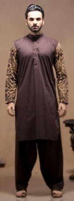 Deepak & Fahad Stylish Men's Wear Kurta Eid Collection 2012_06