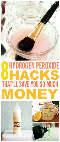 These 8 Hydrogen Peroxide Hacks and tips are THE BEST! I'm so glad I found these GREAT cleaning tips and tricks! Now I have great ways to clean my home and items with no toxins and save money! Definitely pinning!
