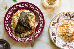Persian trout with tamarind, barberries, and fresh herbs
