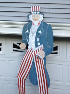 Folk Art  Uncle Sam wooden  store display 9' by EclecticalMagic, $499.00