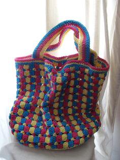 Citrus Tote Bag Crochet Pattern PDF by pepperberry on Etsy www.etsy.com