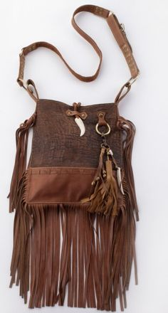 Spell and the Gypsy Collective --- gorgeous fringed leather purse / bag