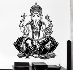 Collection Here 2017 Hot Sale Europe Destroy God Ganasha Indian Lord For Buddha Vinyl Wall Stickers Decals Many Styles Dinning Room Decor Home Decor Wall Stickers