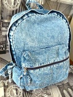 denim backpacks for fashion girls.  #denim #backpacks #girls www.loveitsomuch.com