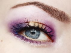 Madam Noire Makeup Studio: Tangled - love the placement of the colors!