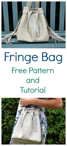 FREE SEWING PATTERN:  Fringe Bag . ON THE CUTTING FLOOR: FREE SEWING PATTERNS AND TUTORIALS