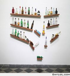 Original shelving. Man cave ideas.