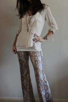 Pantalon de serpiente  www.globalconceptforfashion.com