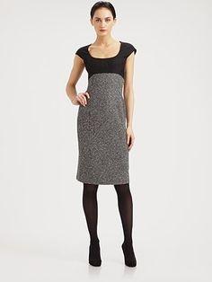 Armani Collezioni - Micro-Pattern Wool Dress - Saks.com
