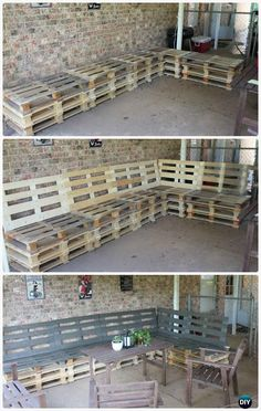 DIY Patio Pallet Furniture Set Instructions - DIY Outdoor Patio #Furniture Ideas