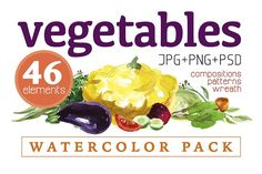 watercolor vegetables by katflare | store on @creativemarket