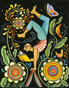 Balanced Reader Giclee Print – Julie Paprika